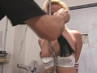Sexy bitch gets hog scheduled and tit-tortured