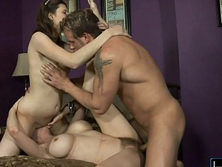 June and her daughter take the repairman for a sexy ride!