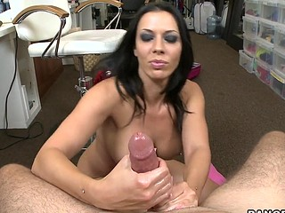 Who is ready to witness the particular and amazing techniques performed by the one and merely weenie goddess Rachel Starr. After giving us a quick tutorial that babe goes on to the give us a in depth performance of her so called celebrated techniques. This Babe introduces Over the Mountain, The Not Ever Ending Cum-Hole, and the Dick Worship, they are all going down as all time hand job classics. Hope u all take your notes, have a fun