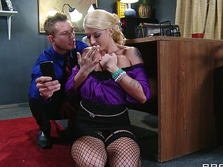 Leya can't live out of it when her boss treats her disposed to a wicked cutie. That Babe wants to get in trouble so badly that that hottie starts fucking up on purpose, and lastly her flubs get her exactly what this hottie wants. This Babe can't obey, so Mr. Bailey teaches her and her pretty little behind a lesson in obedience.